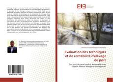 Capa do livro de Evaluation des techniques et de rentabilité d'élevage de porc