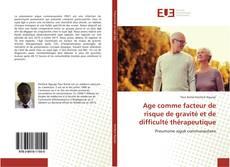Age comme facteur de risque de gravité et de difficulté thérapeutique的封面