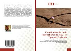 Bookcover of L'application du droit international de l'eau : le Tigre et l'Euphrate