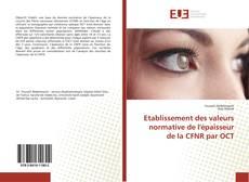 Etablissement des valeurs normative de l'épaisseur de la CFNR par OCT的封面