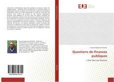 Обложка Questions de finances publiques