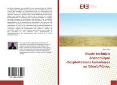 Copertina di Etude technico économique d'exploitations bananières au Gharb/Maroc