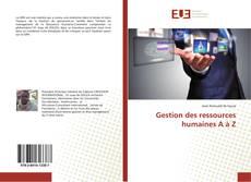 Capa do livro de Gestion des ressources humaines A à Z