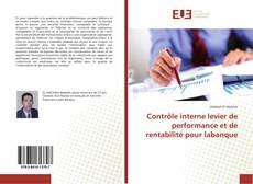 Couverture de Contrôle interne levier de performance et de rentabilité pour labanque