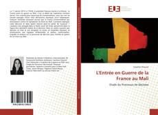 L'Entrée en Guerre de la France au Mali kitap kapağı