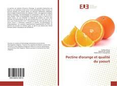 Capa do livro de Pectine d'orange et qualité du yaourt
