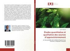 Bookcover of Études quantitative et qualitative des sources d'approvisionnement