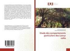 Copertina di Etude des comportements particuliers des Lemur catta