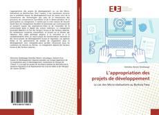Bookcover of L'appropriation des projets de développement