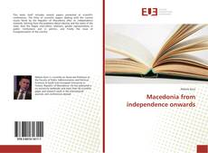 Couverture de Macedonia from independence onwards