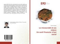 Bookcover of Le microcrédit et ses enjeux Un outil financier à but social