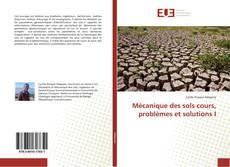 Mécanique des sols cours, problèmes et solutions I kitap kapağı