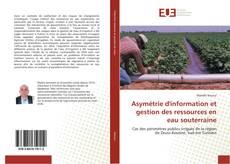 Asymétrie d'information et gestion des ressources en eau souterraine的封面