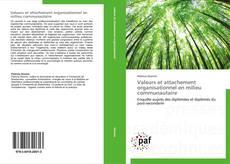 Buchcover von Valeurs et attachement organisationnel en milieu communautaire