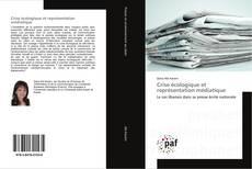 Crise écologique et représentation médiatique kitap kapağı