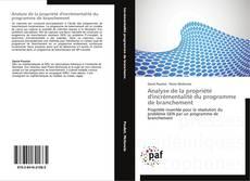 Bookcover of Analyse de la propriété d'incrémentalité du programme de branchement