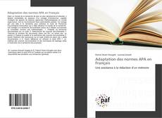 Bookcover of Adaptation des normes APA en Français
