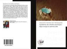 Buchcover von Epidémie de choléra de Kayes