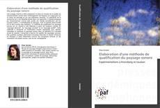 Обложка Elaboration d'une méthode de qualification du paysage sonore