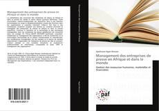 Portada del libro de Management des entreprises de presse en Afrique et dans le monde