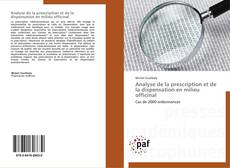 Bookcover of Analyse de la prescription et de la dispensation en milieu officinal