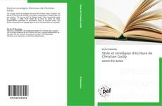 Bookcover of Style et stratégies d'écriture de Christian Gailly