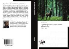 Обложка Dynamique du nationalisme québécois