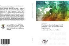 Обложка Pratiques de développement durable chez les prestataires logistiques
