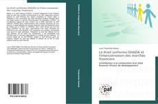 Le droit uniforme OHADA et l'interconnexion des marchés financiers的封面