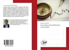 Bookcover of Les actions de préférence