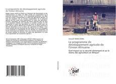 Capa do livro de Le programme de développement agricole de l'Union Africaine