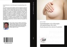 Buchcover von Contribution à la chirurgie oncoplastique du sein