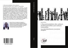 Capa do livro de L'Accommodation des valeurs professionnelles aux valeurs culturelles