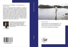 Couverture de L'écriture et ses langues : la littérature de Panaït Istrati