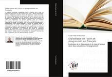 Couverture de Didactique de l'écrit et progression en français