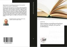 Description morphosyntaxique d'un parler kabyle (le parler d'Akfadou) kitap kapağı