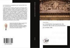 Bookcover of La résolution européenne de l'article 88-4 de la Constitution