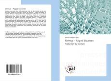 Capa do livro de Urmuz - Pages bizarres