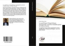 Capa do livro de La politique linguistique espagnole comme modèle pour la Côte d'voire