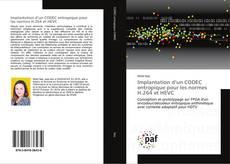 Portada del libro de Implantation d'un CODEC entropique pour les normes H.264 et HEVC