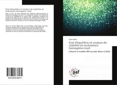 Bookcover of Etat d'équilibre et analyse de stabilité en turbulence homogène cisail