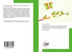 Couverture de Introduction à la rédaction des mémoires et à la soutenance