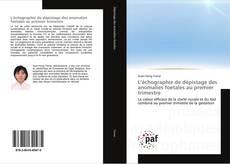 Bookcover of L'échographie de dépistage des anomalies foetales au premier trimestre