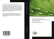 Portada del libro de L'helminthosporiose du riz au Burkina Faso