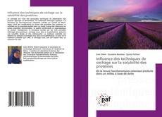 Capa do livro de Influence des techniques de séchage sur la solubilité des protéines