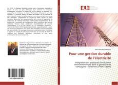 Borítókép a  Pour une gestion durable de l'électricité - hoz