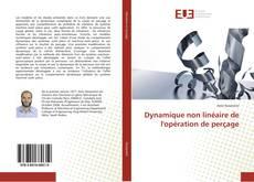 Dynamique non linéaire de l'opération de perçage kitap kapağı