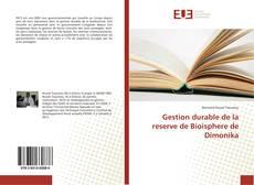 Buchcover von Gestion durable de la reserve de Bioisphere de Dimonika