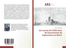 Copertina di Les causes du faible taux de financement de l'agriculture au Bénin
