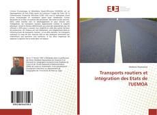 Copertina di Transports routiers et intégration des Etats de l'UEMOA